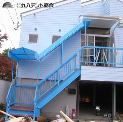 階段テント1
