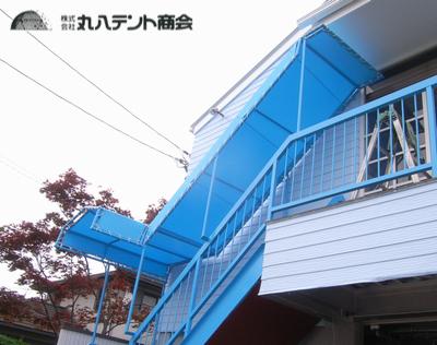 階段テント2
