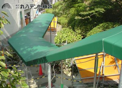 階段通路テント3