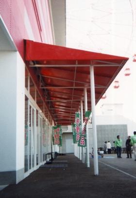 階段通路テント7