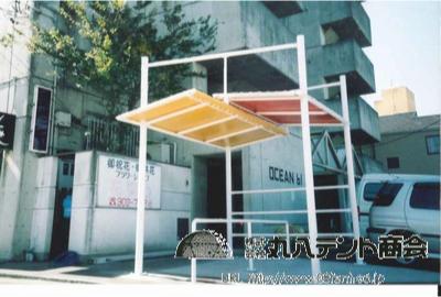 駐輪場テント1