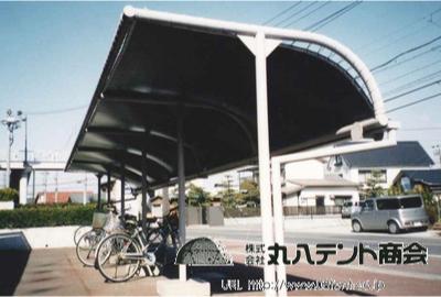 駐輪場テント2