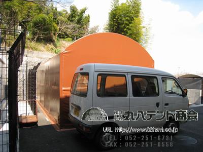 簡易型テント倉庫