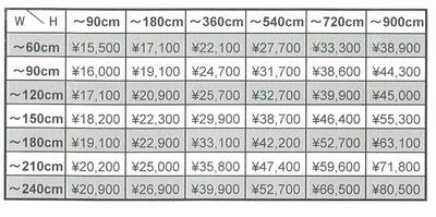 インクジェット印刷価格表\