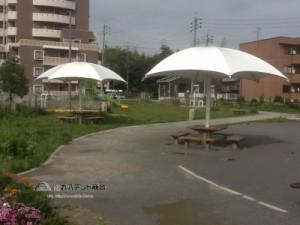 休憩所テント パラソル風
