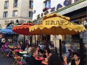 海外テント事例 フランス パラソル カフェ